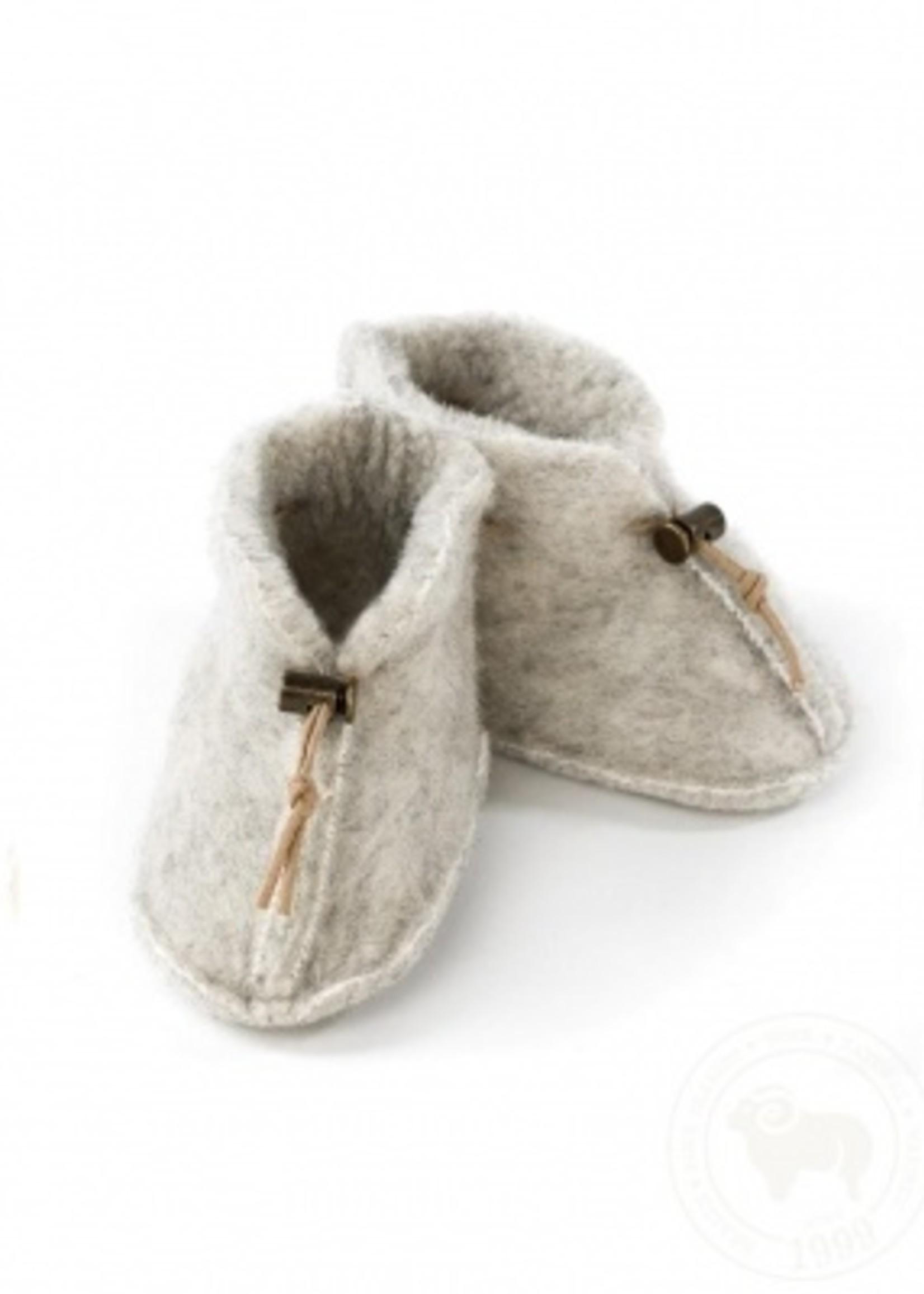 Alwero Babyslofjes 100% emowol - Grey