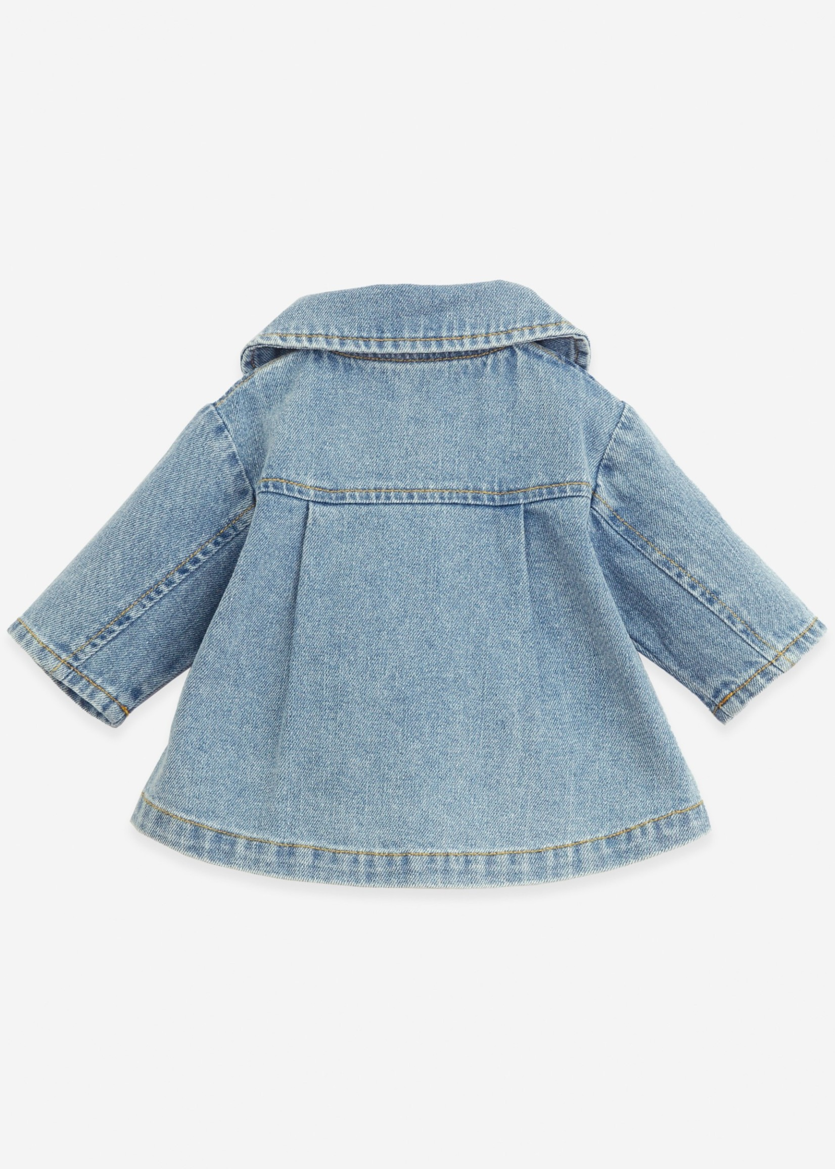 Play Up Denim Jacket With Coconut Buttons