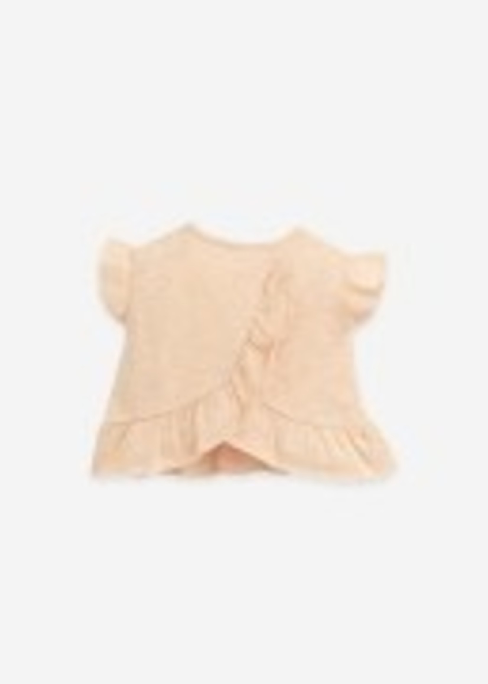 Play Up T-shirt With Ruffles - Egg
