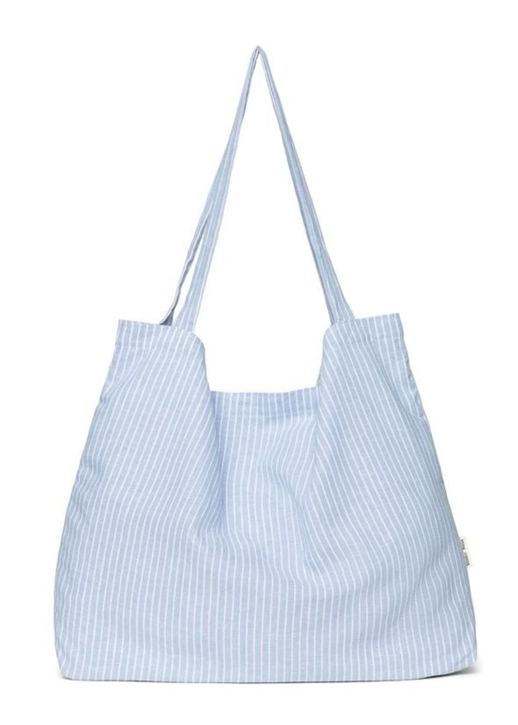 Studio Noos Mom Bag - Blue Striped Linen