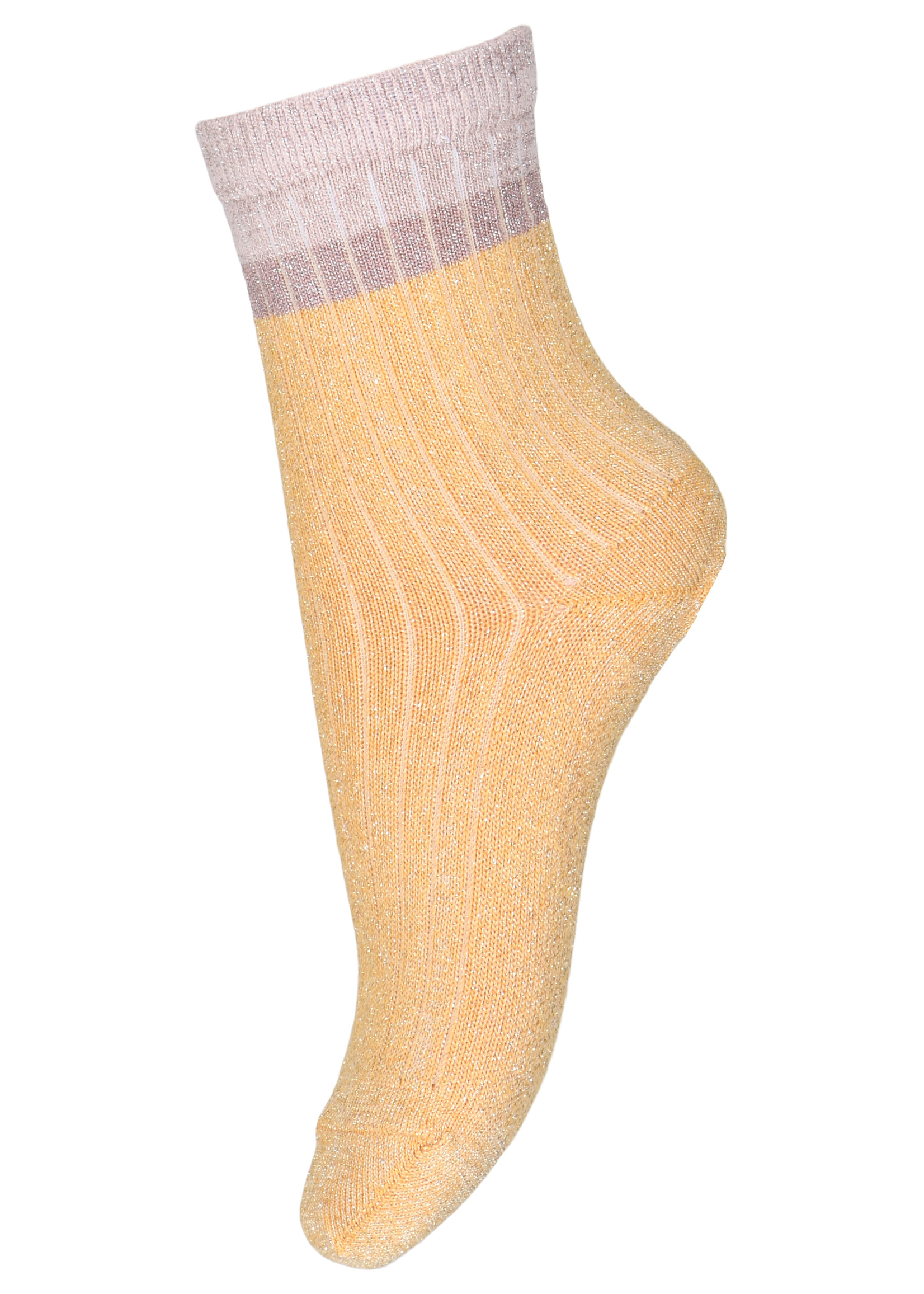 mp Denmark Norma Glitter Socks - Ochre