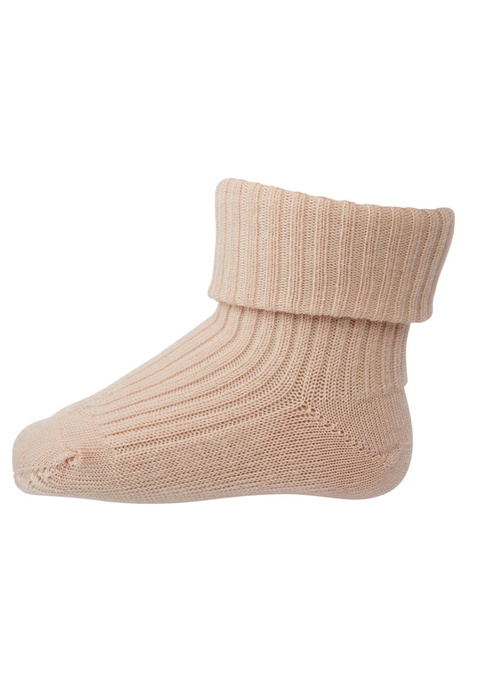 mp Denmark Rib Wool Socks - Light Rose