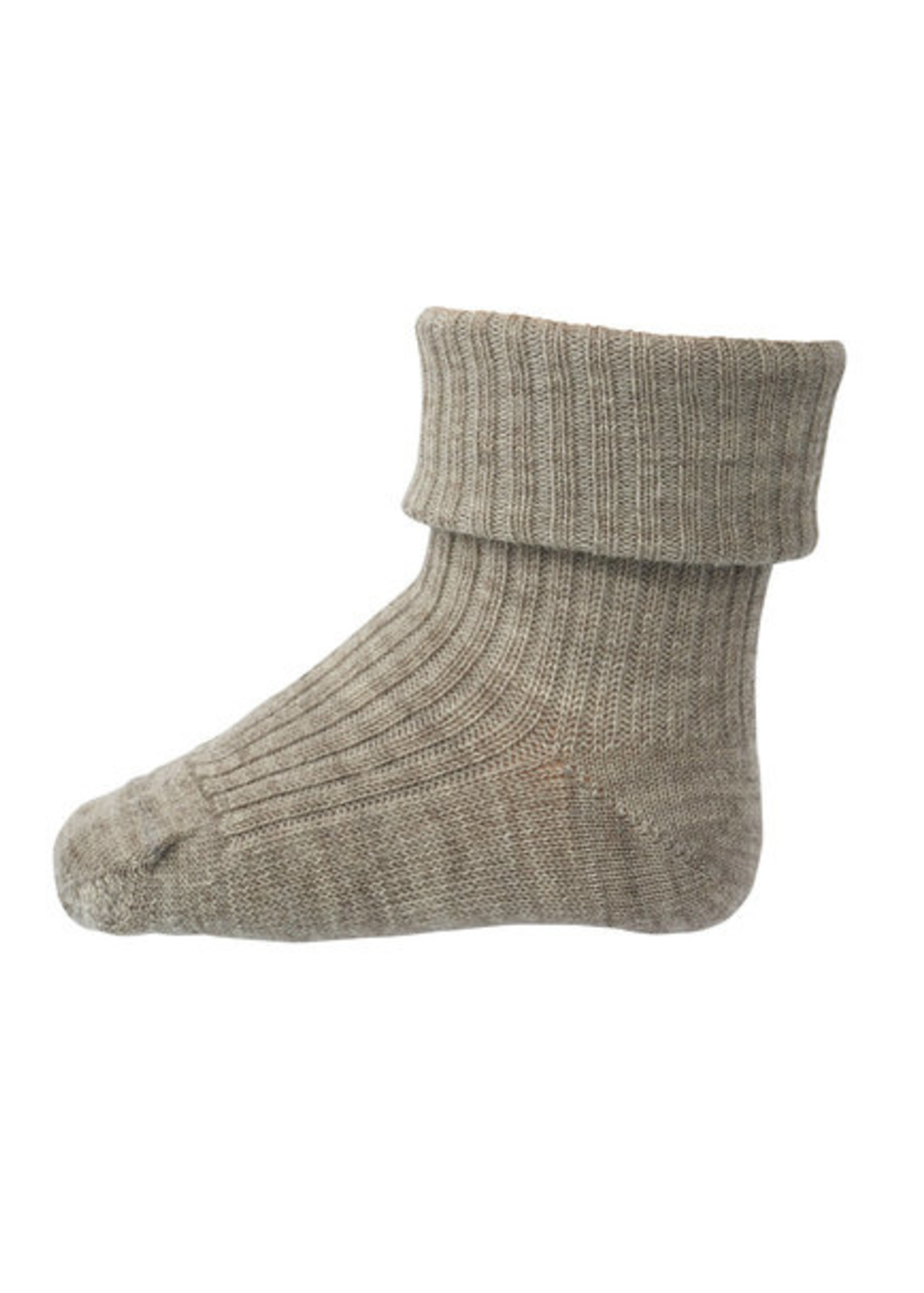 mp Denmark Rib Wool Socks - Light Brown Mel