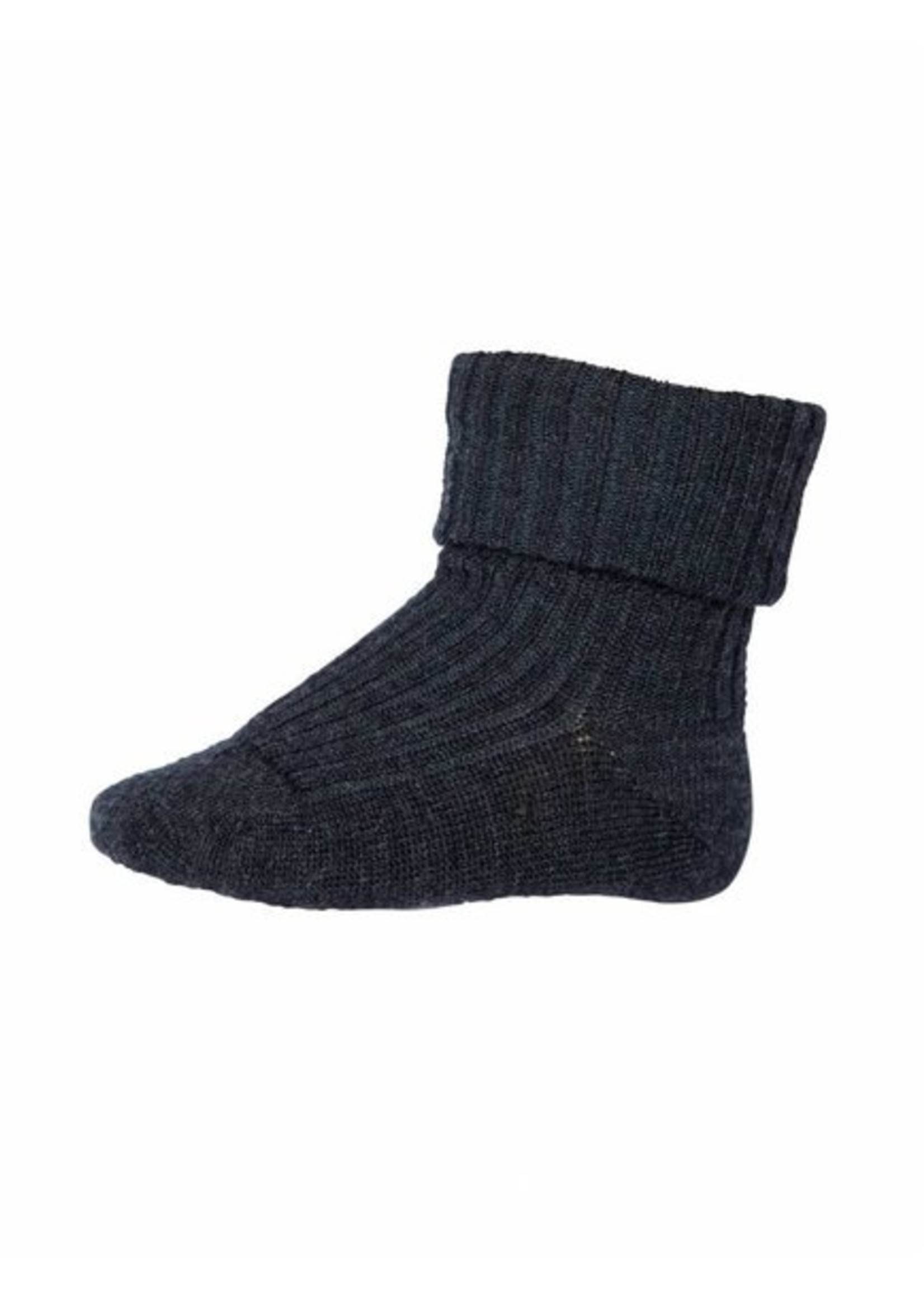 mp Denmark Rib Wool Socks - Dark Grey Mel