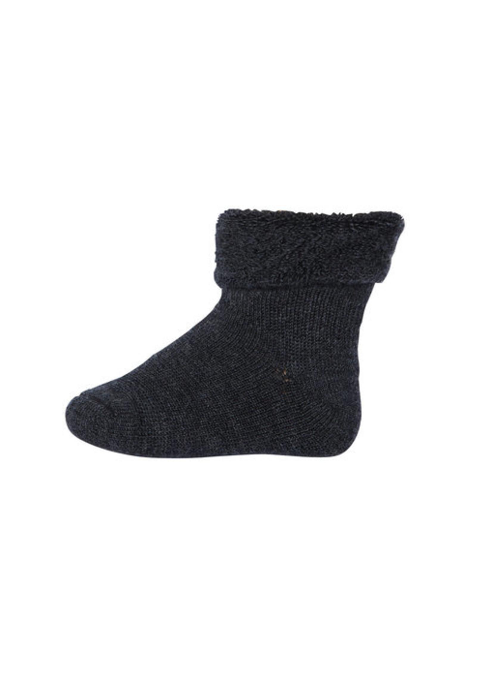 mp Denmark Terry Wool Socks - Dark Grey Mel