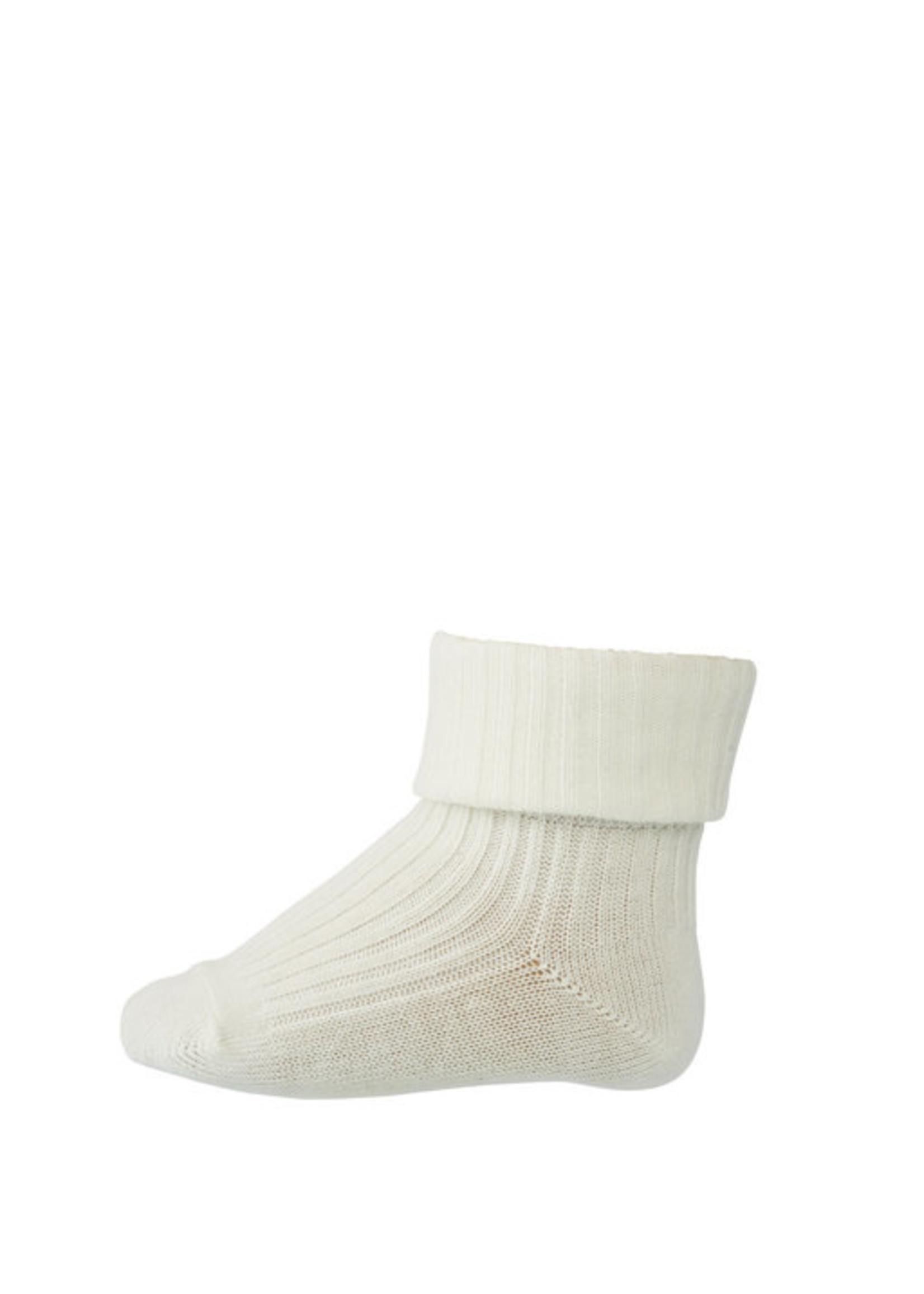 mp Denmark Rib Wool Socks - Snow White