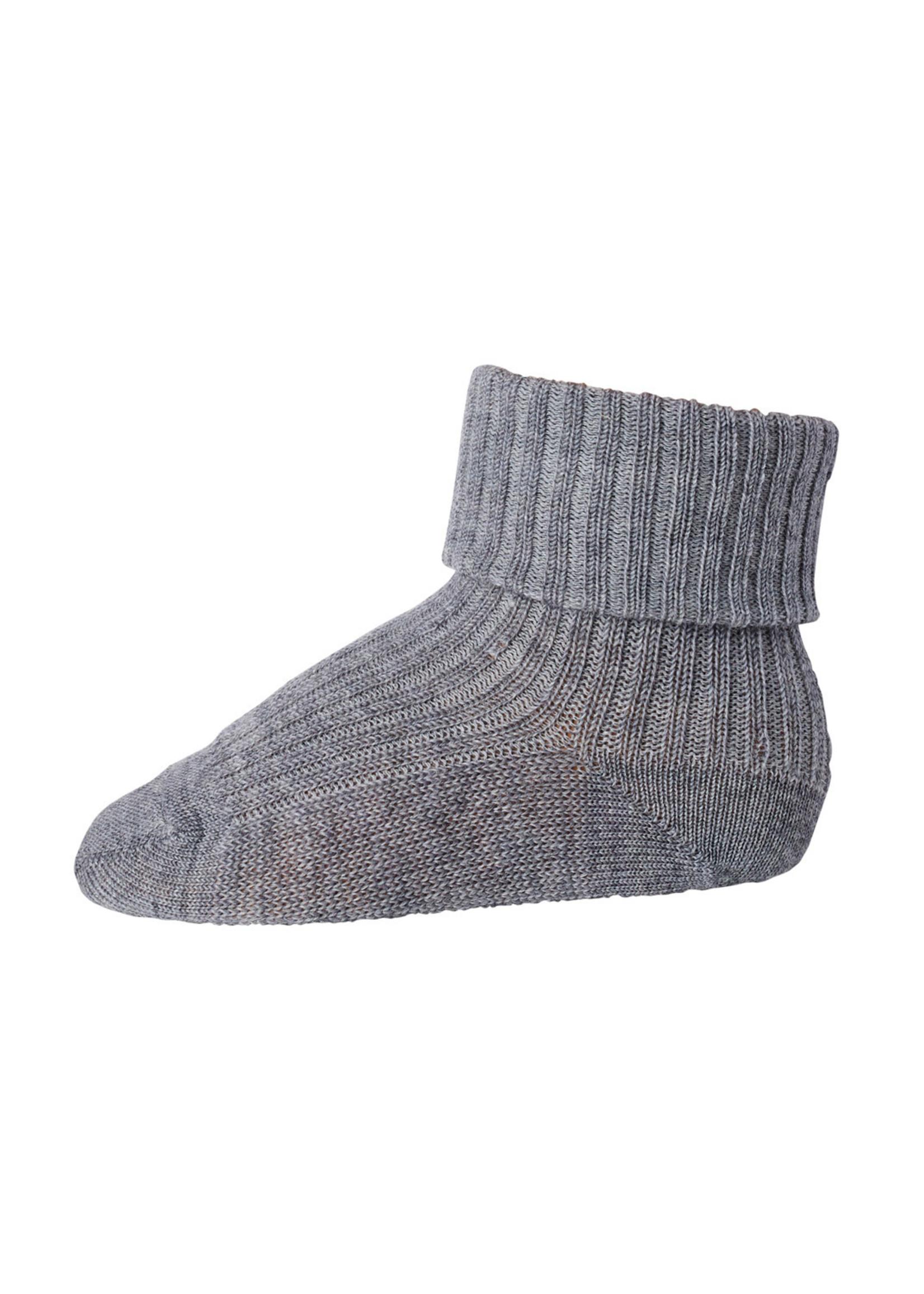 mp Denmark Rib Wool Socks - Grey Mel