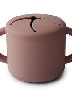 Mushie Snack Cup - Cloudy Mauve