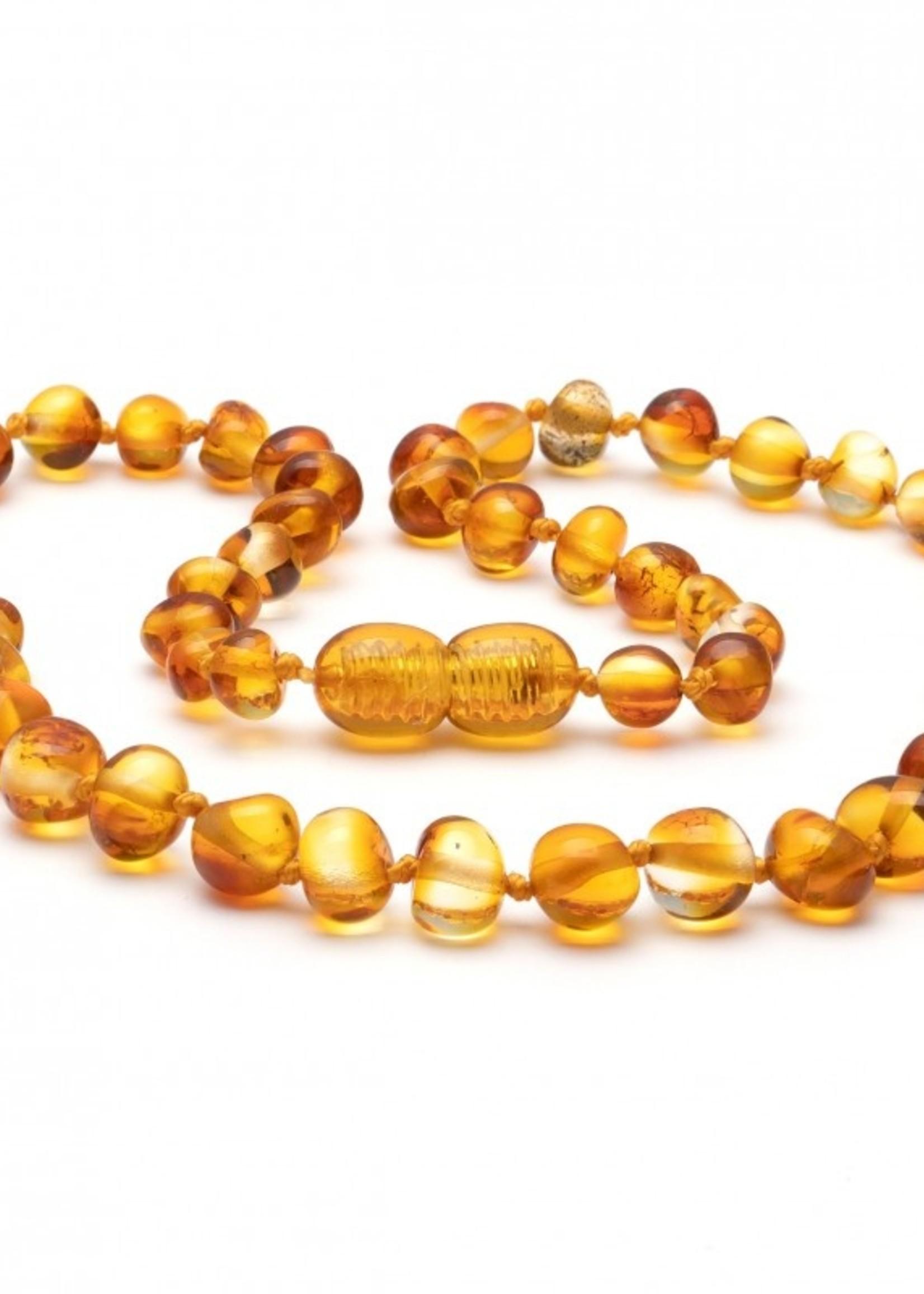 Amber Baroque Amber Teething Necklace - Honey