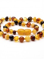 Amber Baroque Amber Teething Necklace - Multi-Color