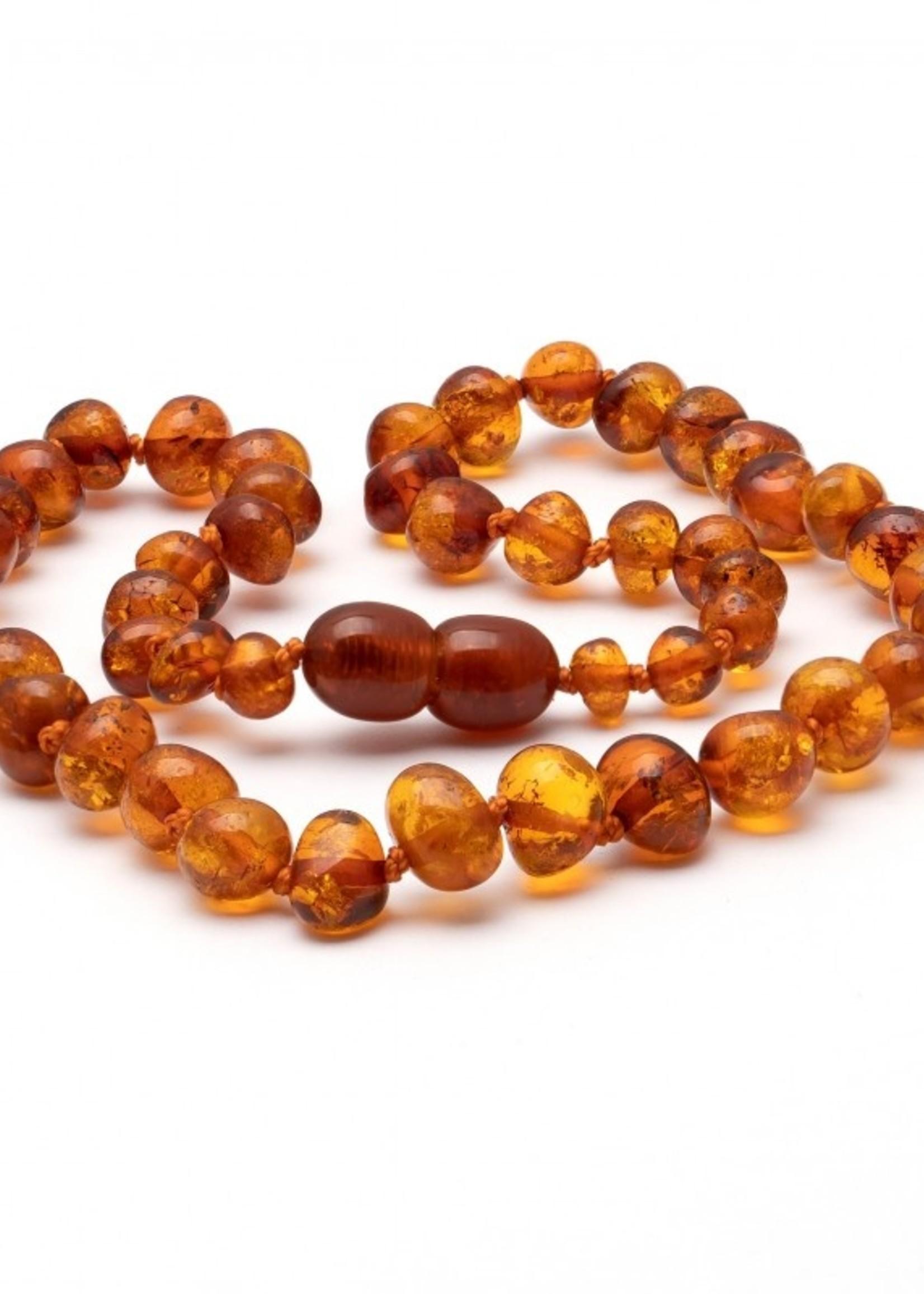 Amber Baroque Amber Teething Necklace - Cognac