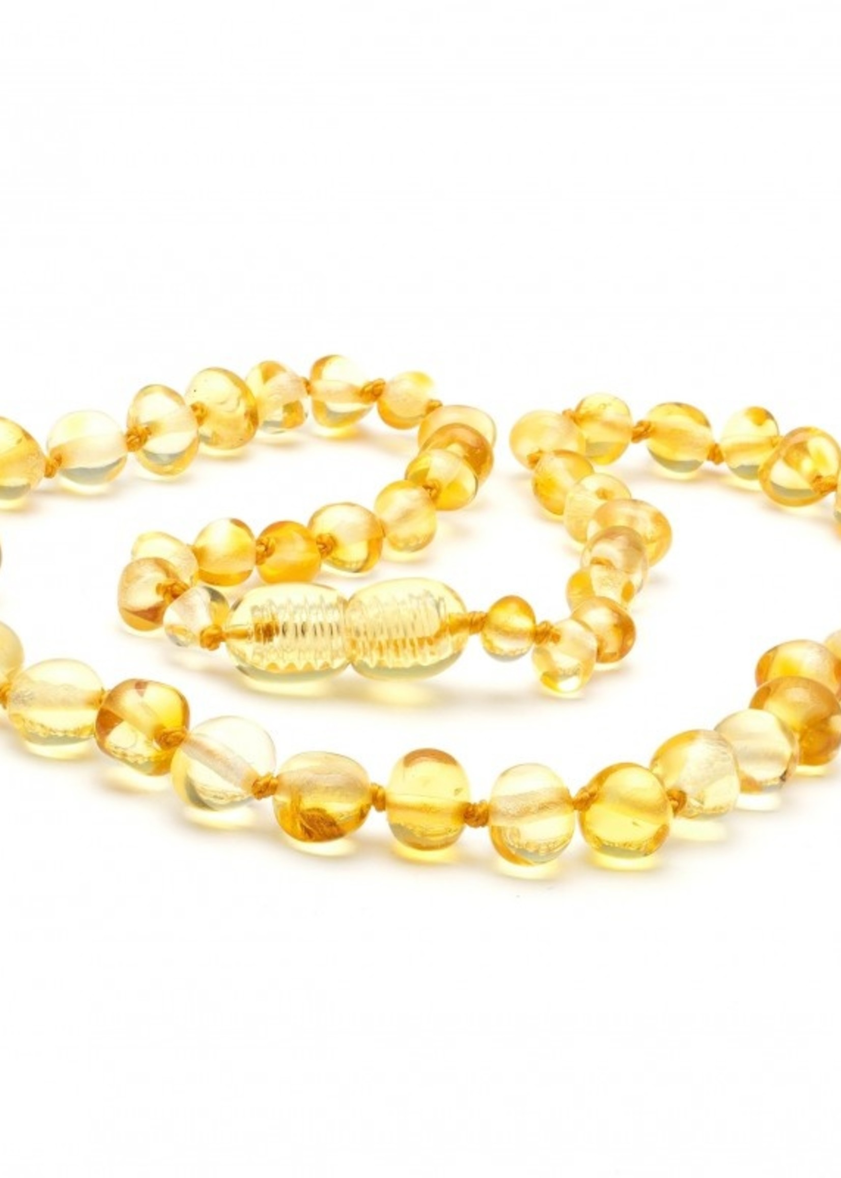 Amber Baroque Amber Teething Necklace - Lemon