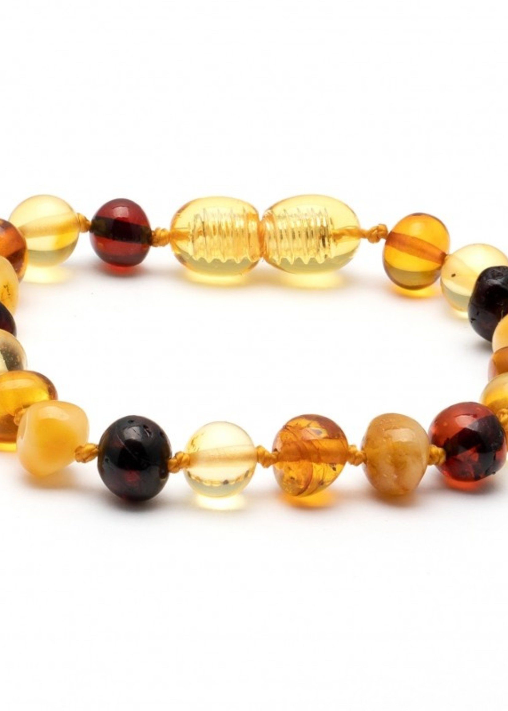 Amber Baroque Amber Teething Bracelet - Multi-color