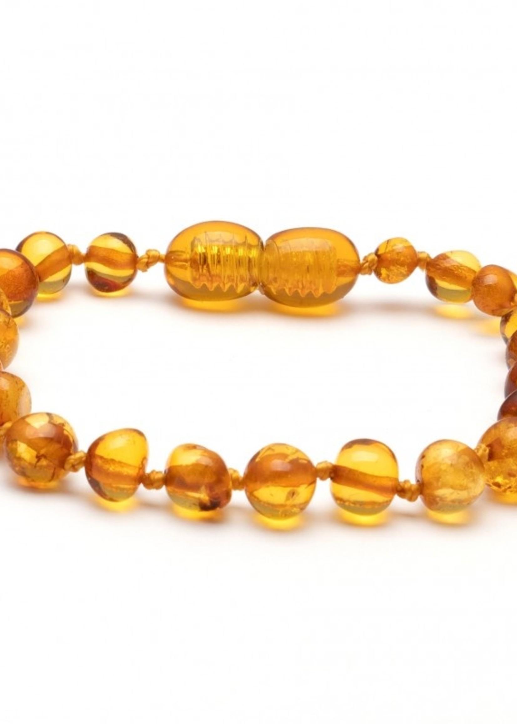 Amber Baroque Amber Teething Bracelet - Honey