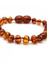 Amber Baroque Amber Teething Bracelet - Cognac