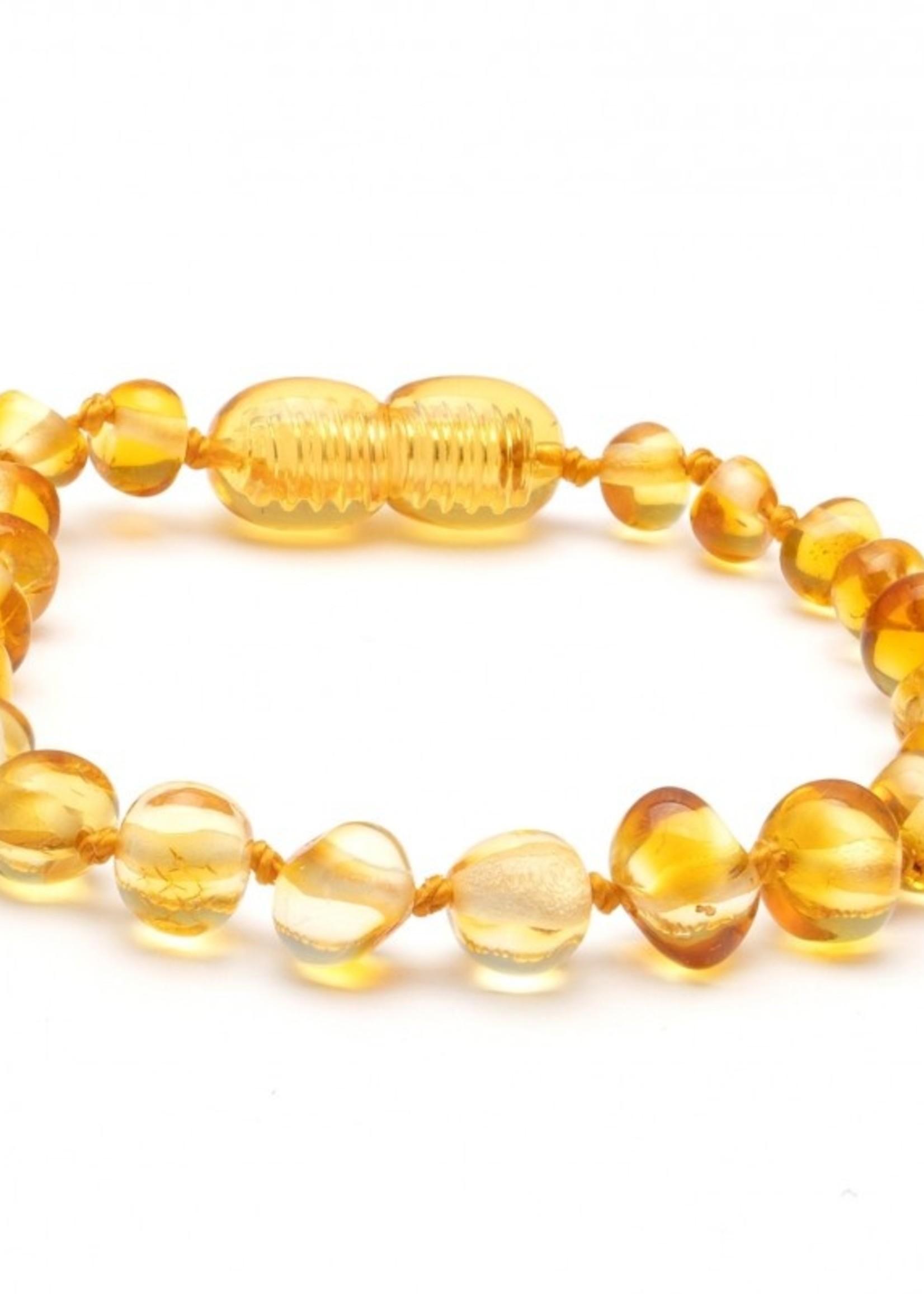 Amber Baroque Amber Teething Bracelet - Lemon