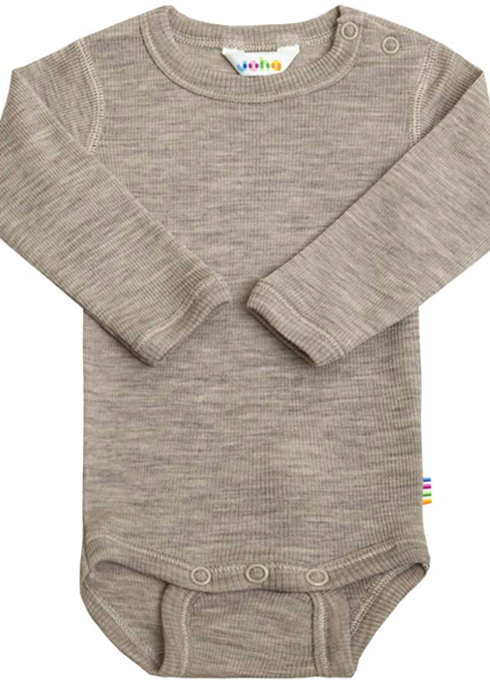 Joha Body Long Sleeve - Wool & Silk - Sesame Melange