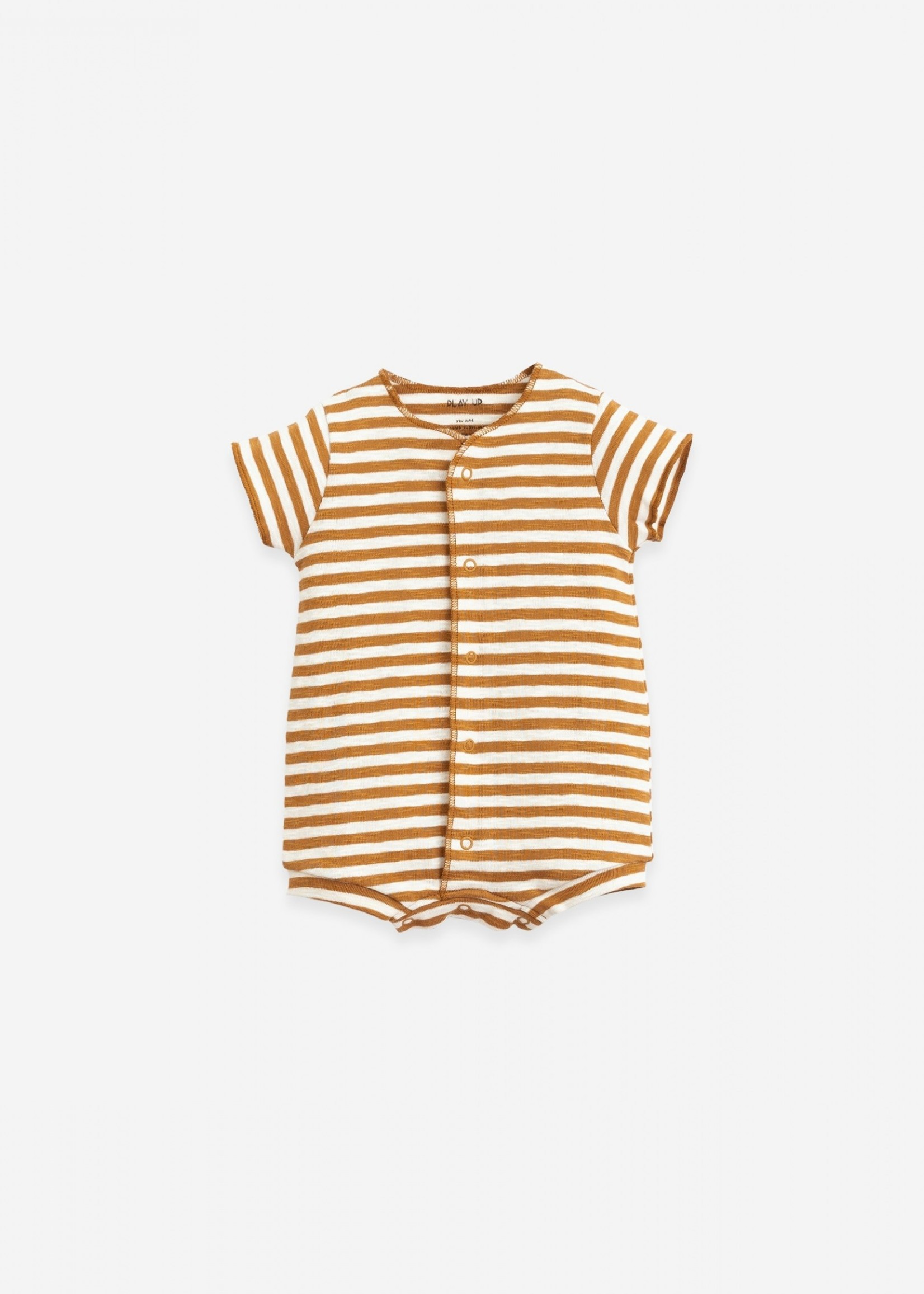 Play Up Pack of 2 -  Plain and Striped Babygrows - Hazel