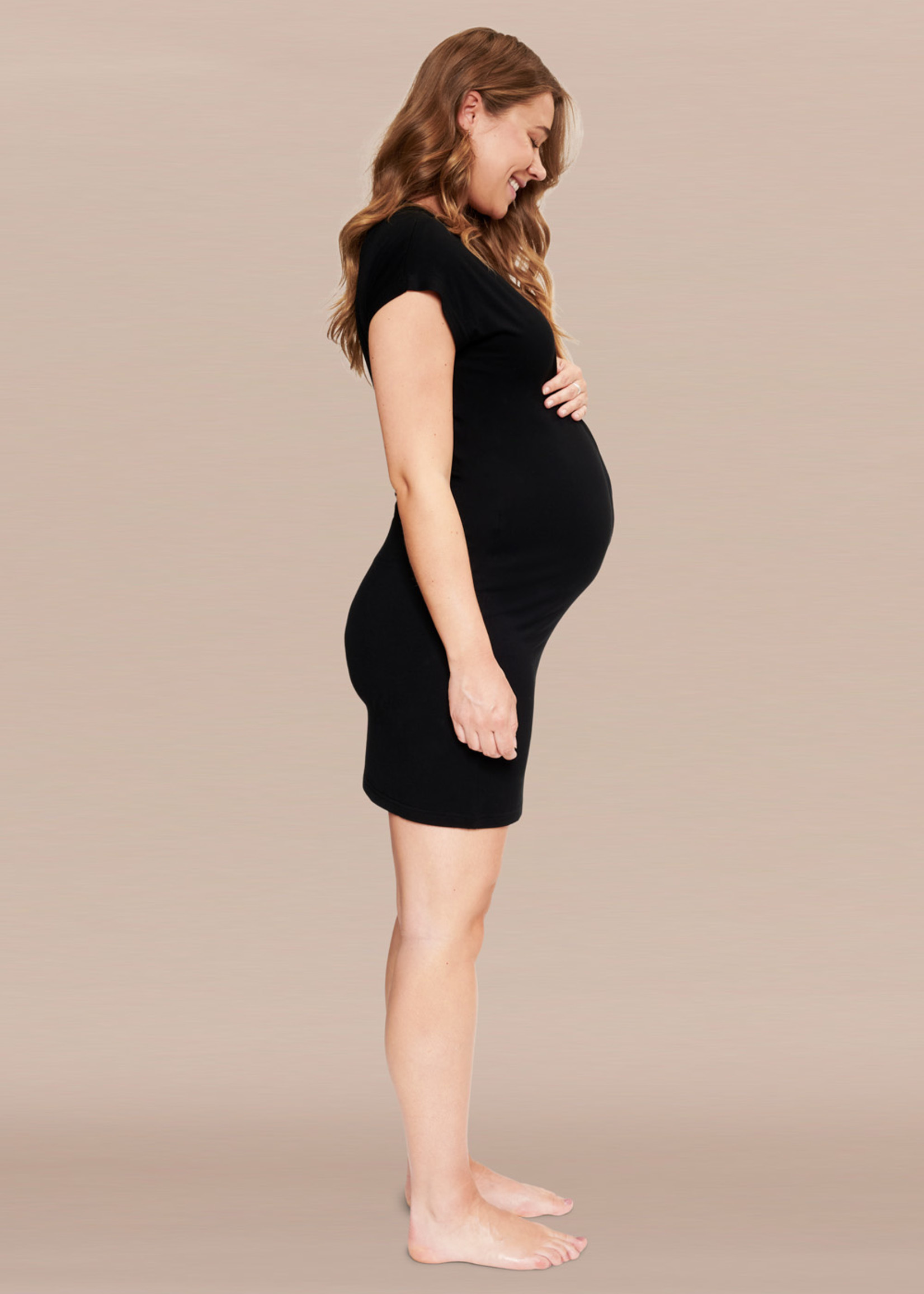 Het Bevallingsjurkje Black - Normal fit