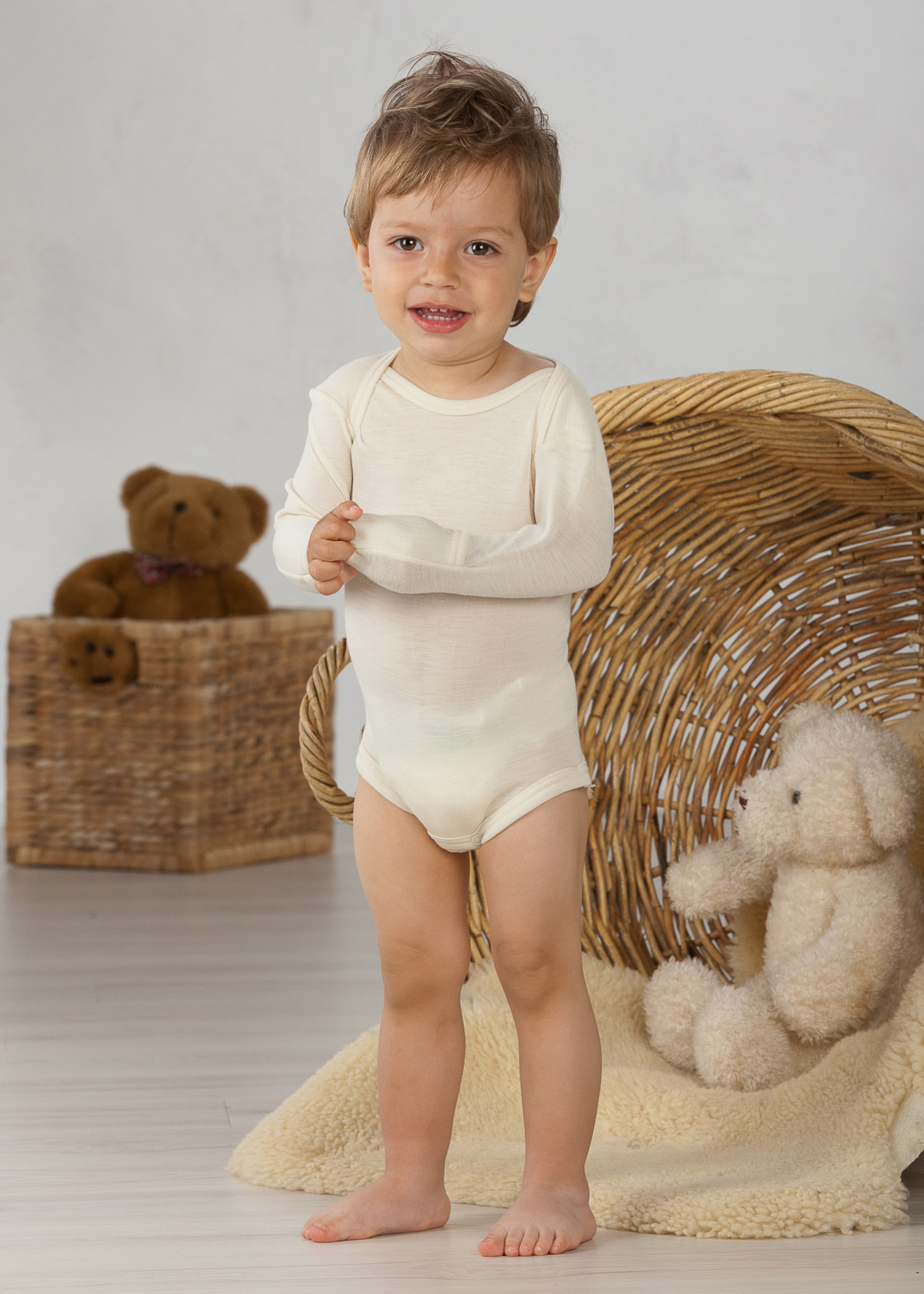 Cosilana Body with Scratch Protection - Long Sleeve - Wool/Silk