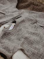 Joha Body Short Sleeve - 100% Wool - Sesame Melange