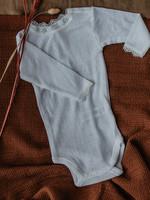 Joha Pointelle Body Long Sleeve - Wool/Silk