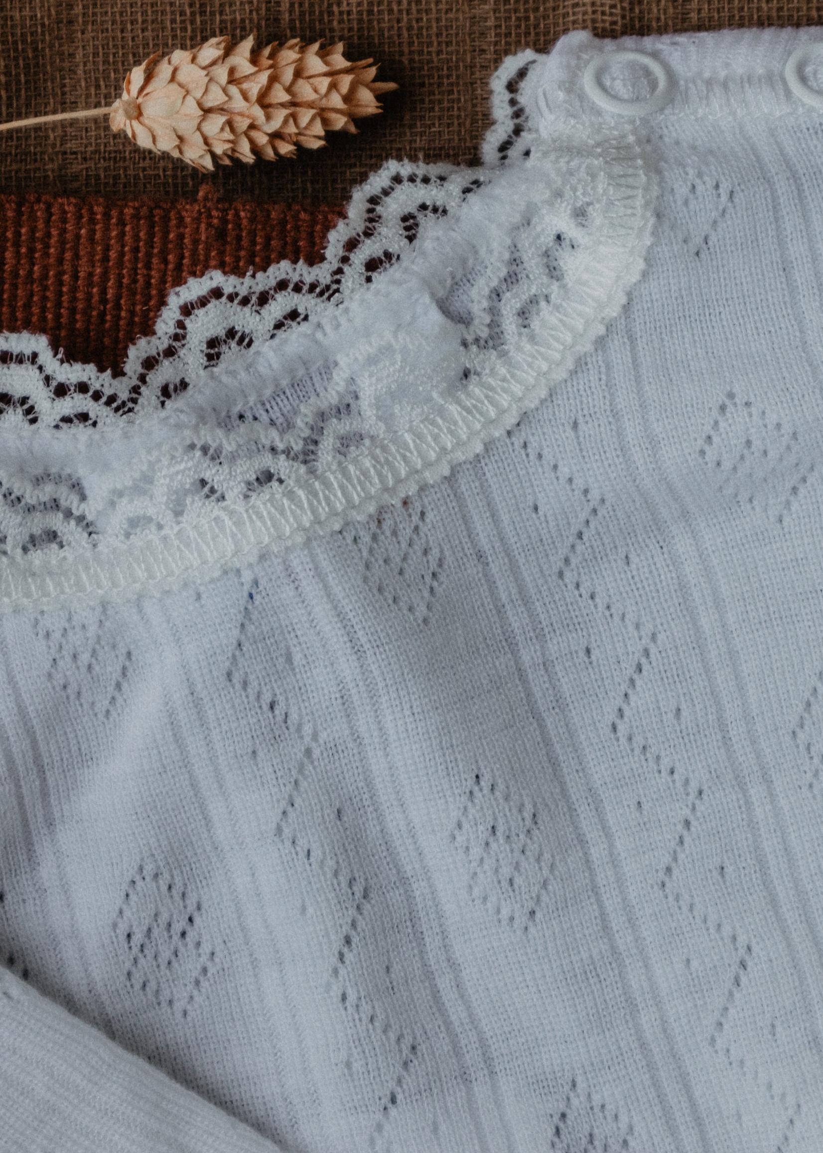 Joha Pointelle Body Long Sleeve - Silk/Wool