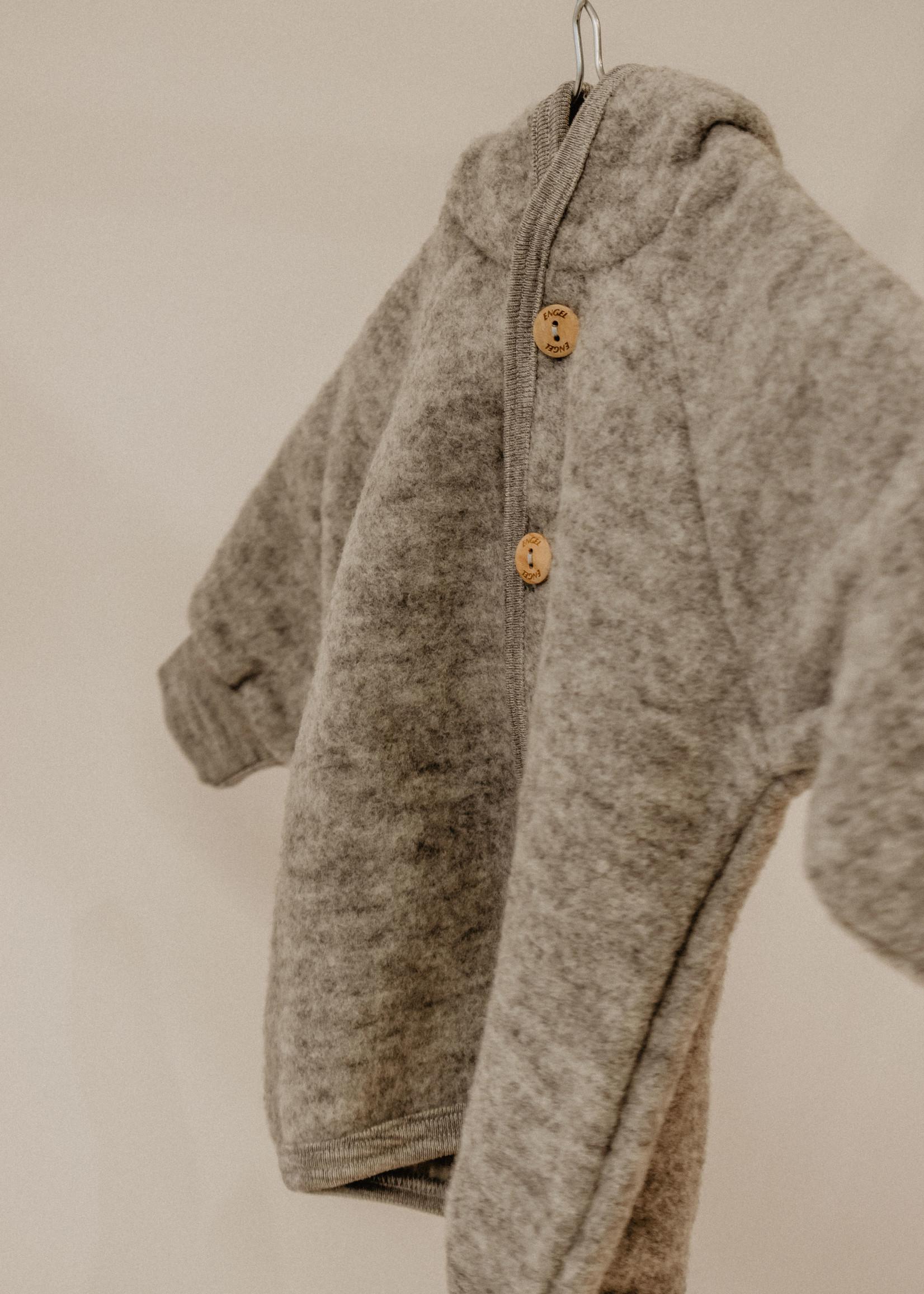 Engel Hooded Jacket - Grey Melange