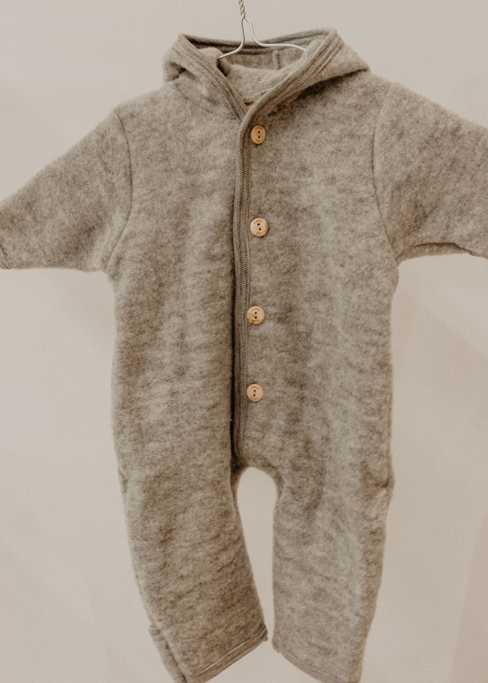 Engel Hooded Overall - Grey Melange