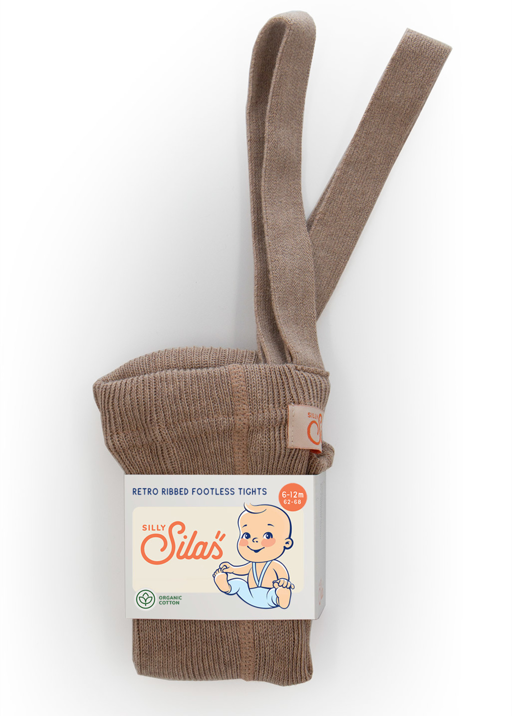 Silly Silas Footless Tights - Cacao Blend