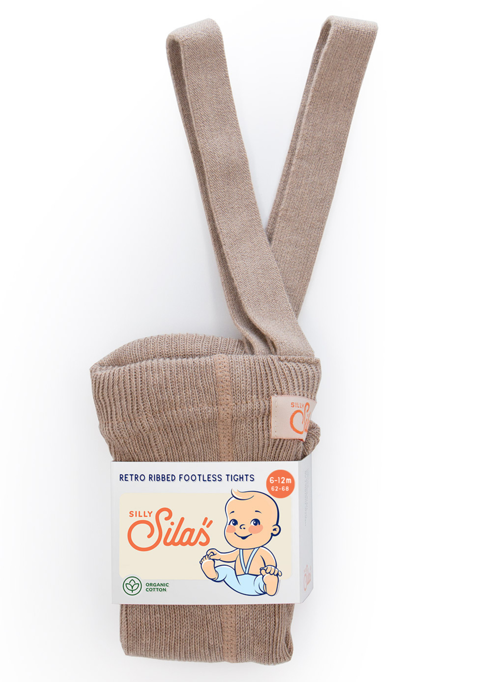 Silly Silas Footless Tights - Peanut Blend