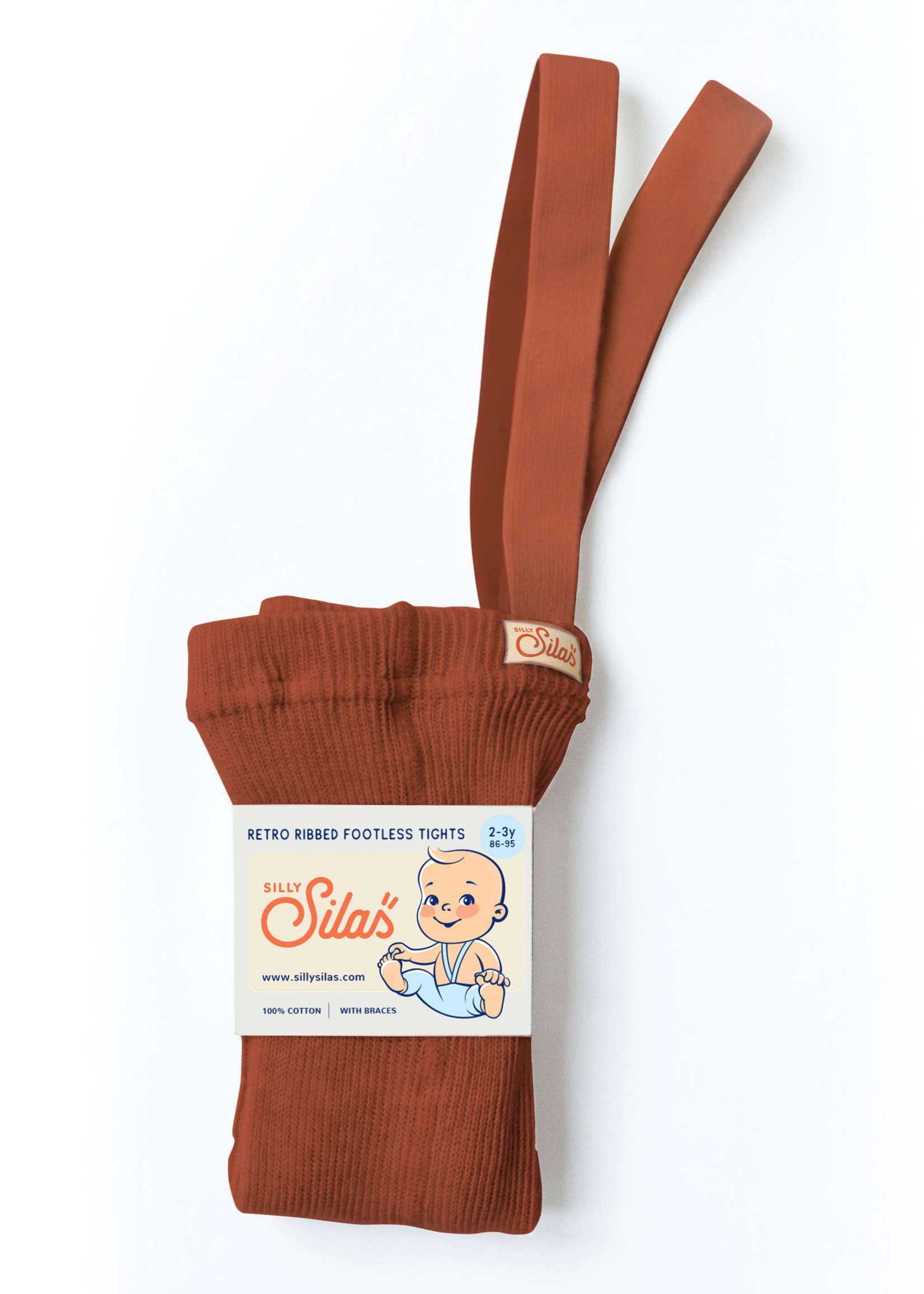 Silly Silas Footless Tights - Cinnamon