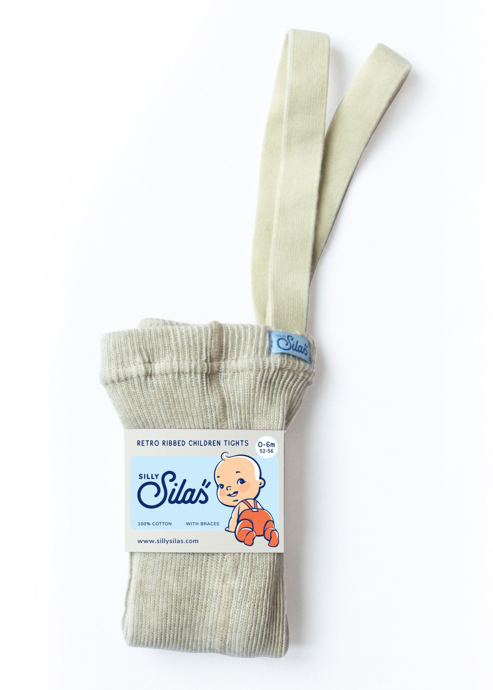 Silly Silas Footed Tights - Cream Blend