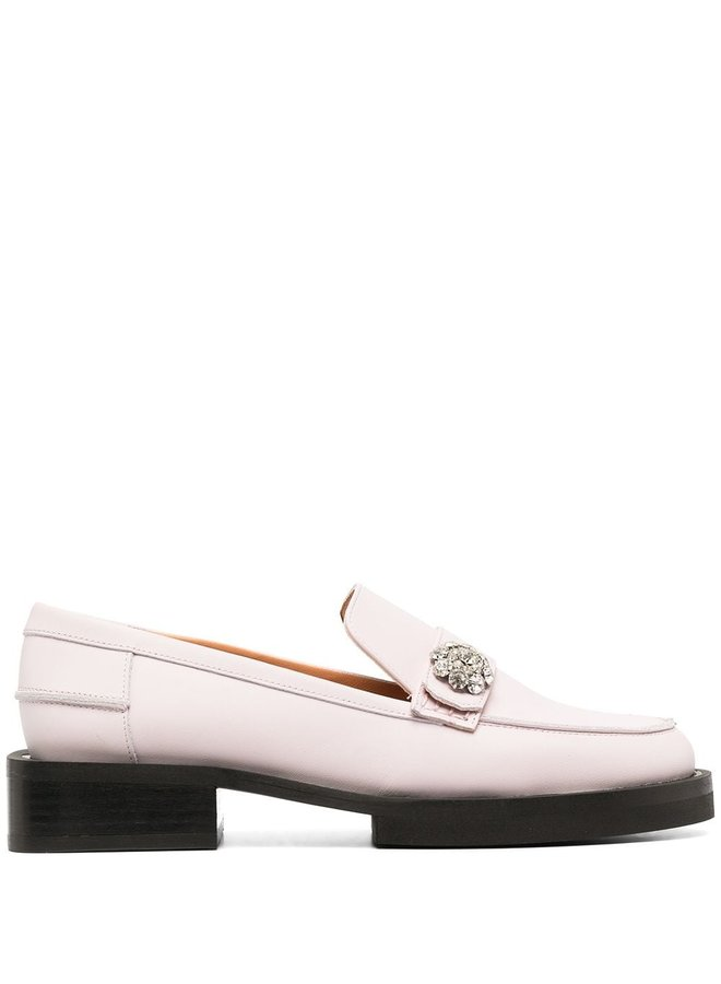 Calf Leather Jewel Moccasin Shoes