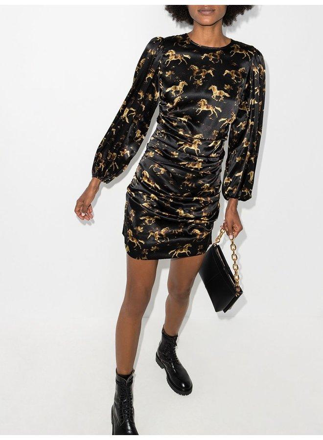 Printed Silk Stretch Satin Dress