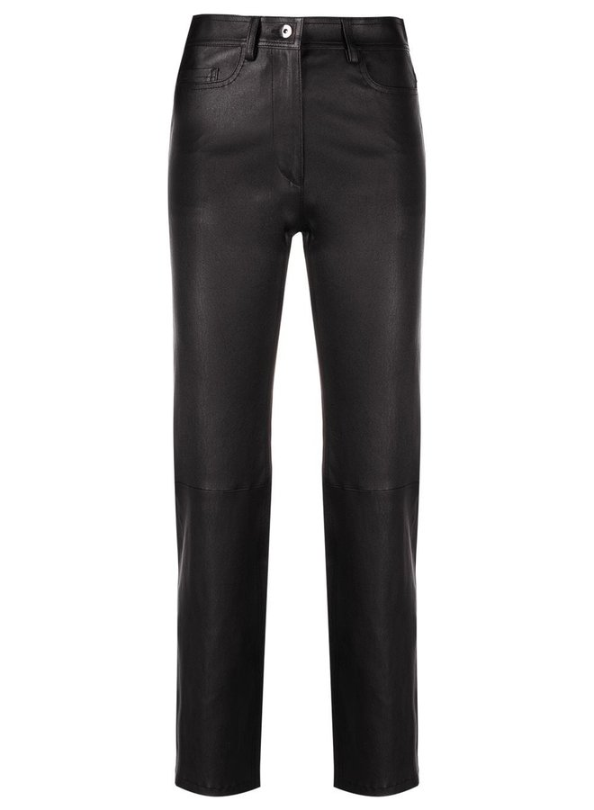 Teddy Leather Stretch Trousers