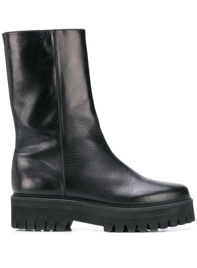 Sporty Elegance Combat Boot