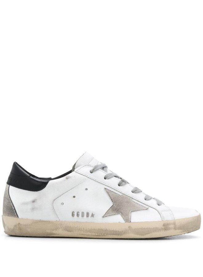 Shiny Heel Lettering Superstar Sneakers