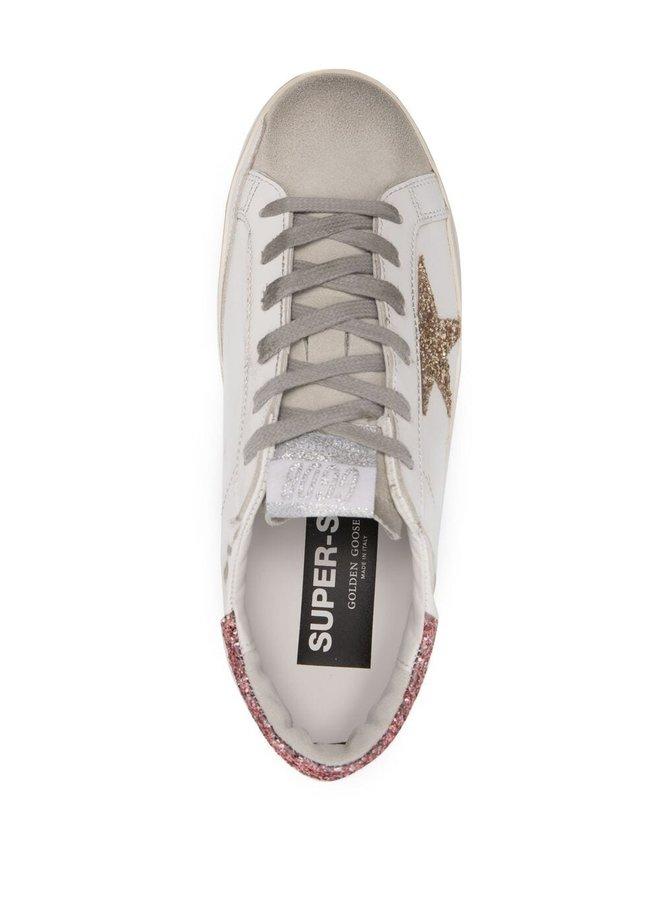 Superstar Sneaker Glitter Star and Heel
