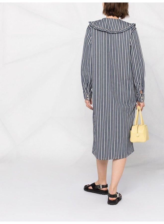 Mixed Stripe Denim Shirt Dress