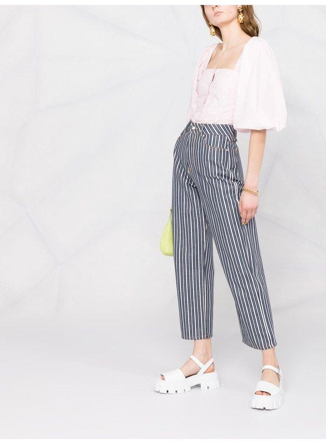 Mixed Stripe Denim Trousers
