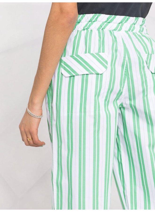 Stripe Cotton Trousers