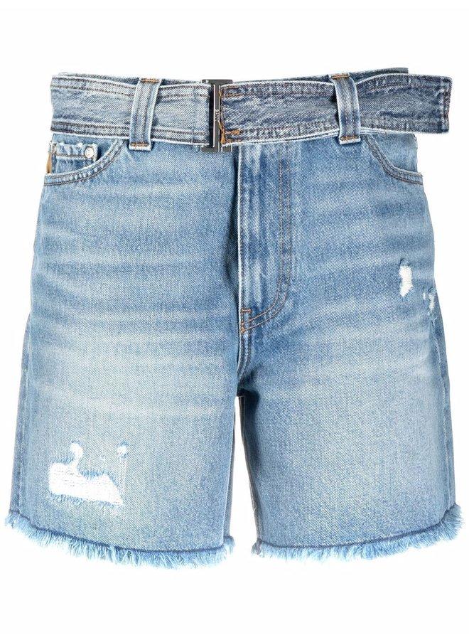 Overwashed Denim Shorts
