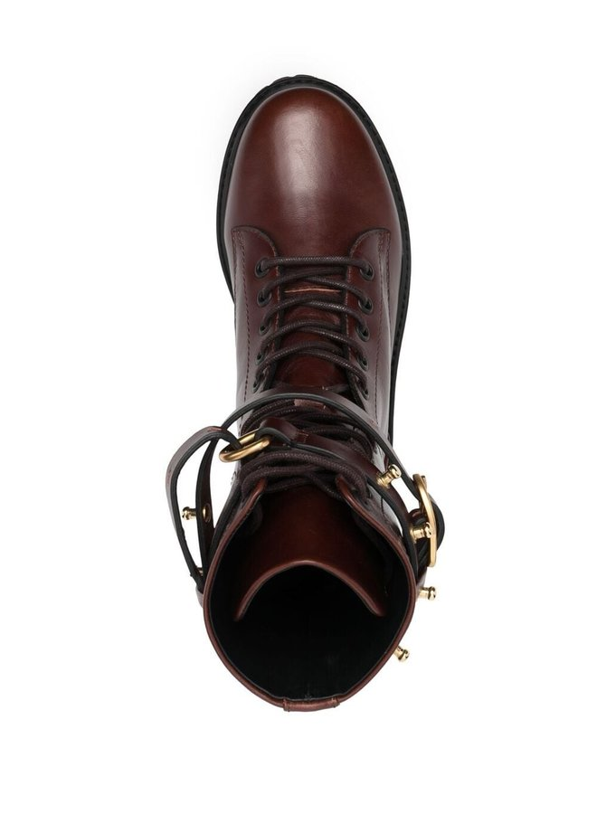 Chic Wilderness Cuoio Combat Boots
