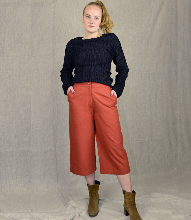 Rias Culotte Rust Brown Khadi cotton