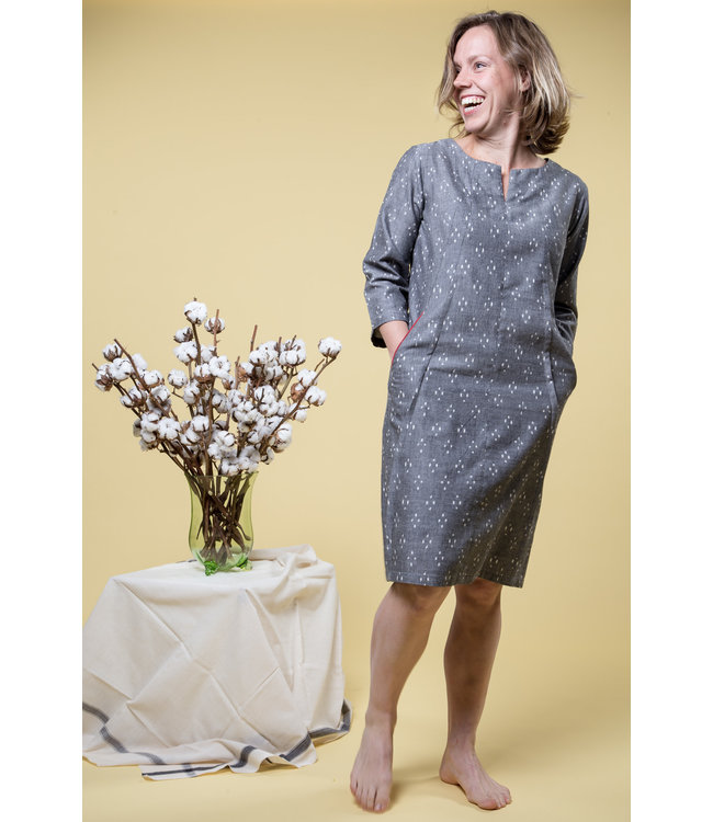 Brass Tacks Cotton dress, grey