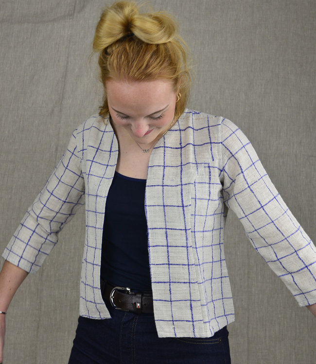 Cotton Rack Checkered cotton jacket