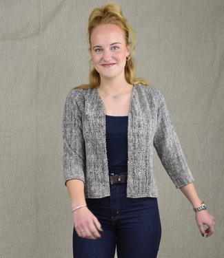 Cotton Rack Short black cotton jacket