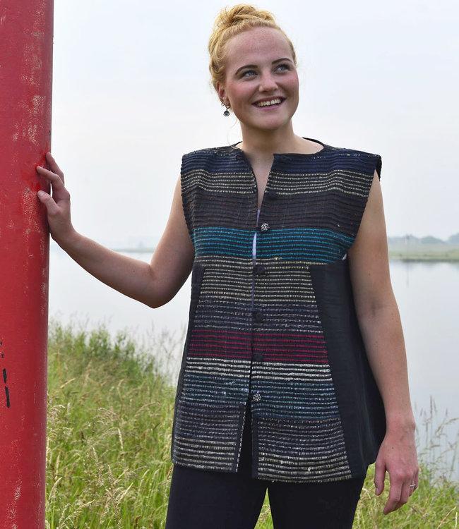 Cotton Rack Mouwloos vest upcycled zero-waste
