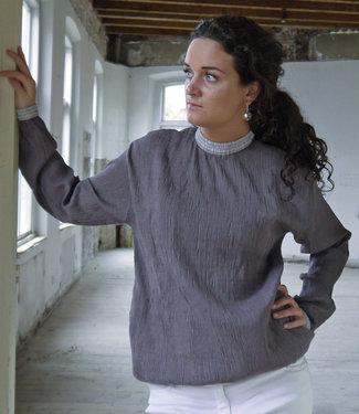 Akaaro Lavender pullover, cotton and silk